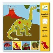 יצירה - שבלונות דינוזאורים - Djeco