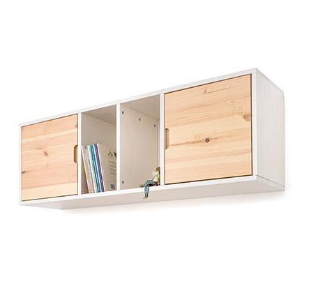 כוורת לתלייה דגם עומרי עשויה עץ מלא ובעלת שתי דלתות במגוון צבעים לבחירה HIGHWOOD - תמונה 2