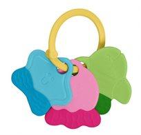 נשכן / רעשן מחזיק מפתחות צבעוני