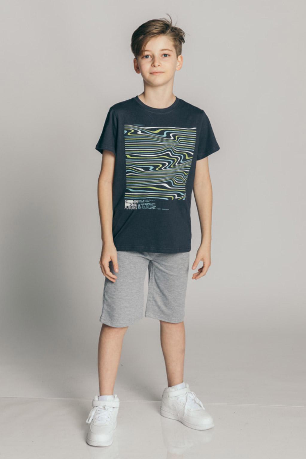 חולצת טריקו קצרה לילדים - אפור כהה