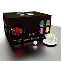 מארז של 100 קפסולות קפה איכותיות תואמות Nespresso בטעם מומנטו מיקס