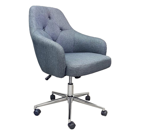 כסא מרופד בצבע אפור עם אפשרות לשינוי גובה