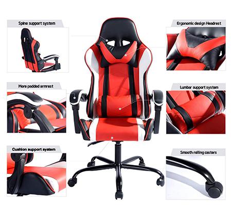כיסא גיימר דגם וונטנה NF לבית או למשרד HOMAX - תמונה 6
