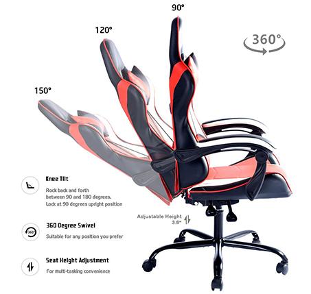 כיסא גיימר דגם וונטנה NF לבית או למשרד HOMAX - תמונה 7