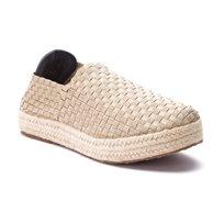 Rock Spring- Epoca - נעלי פלטפורמה בצבע בז בדוגמה קלועה