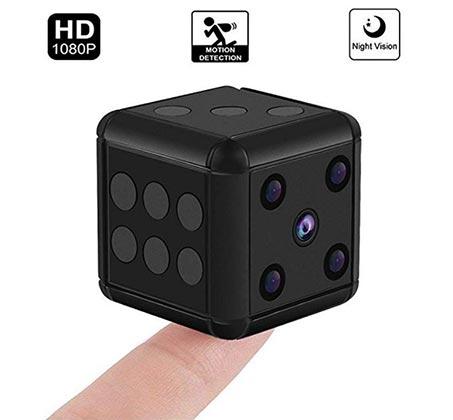 מצלמת וידאו נסתרת זעירה בקוביית משחק עם תאורת לילה - משלוח חינם - תמונה 3
