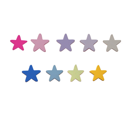ידית עץ בצורת כוכבים לעיצוב חדר הילדים