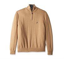 סוודר לגבר עם צווארון גבוה ולוגו קטן NAUTICA דגם S831042BU בצבע בז'