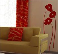 מדבקת קיר - פרחים אלגנטיים