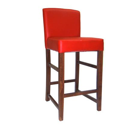 כסא בר פלורידה גב מלא מעץ מרופד למטבח