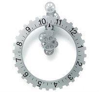 שעון קיר חישוק כסף