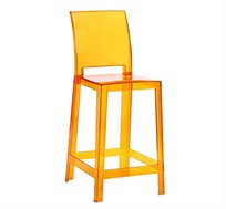 כיסא בר שקוף מעוצב בסגנון נקי דגם אופיר בשני צבעים לבחירה