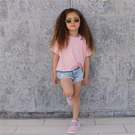 חולצת Oro לילדות (18 חודשים-6 שנים) ורוד בטן