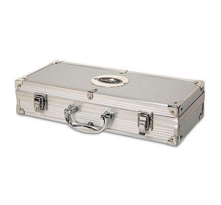 סט 5 כלים נירוסטה לגריל במזוודה הכולל מלקחיים, תרווד, מלחייה, פלפליה ועוד AUSTRALIA CHEF - תמונה 3