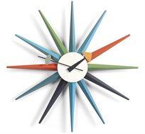 שעון קיר מעוצב STARBURST עשיו עץ מלא ואלומיניום BRADEX