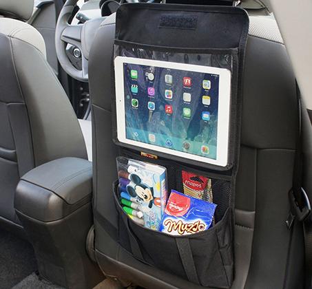 ארגונית רב שימושית לתלייה במושב הרכב בעלת מקום ייעודי ושמור לטאבלט וכיס אחסון - תמונה 3