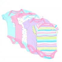 PUMA / פומה סט חמישיית בגדי גוף -טורקיז ורוד (9-0 חודשים)