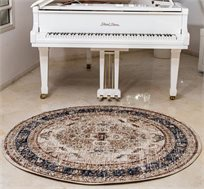 שטיח פאלאצו עגול לסלון מסיבי פוליאסטר