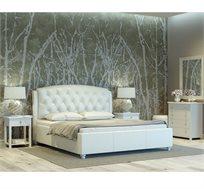 חדר שינה CAMELIA מעור אמיתי ואיכותי הכולל מיטה זוגית, 2 שידות וקומודה GAROX
