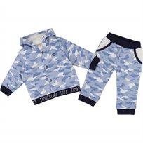 TIMBERLAND חליפה(9-1 חודשים) - תכלת