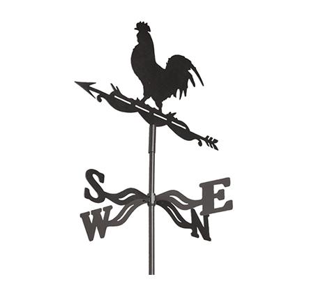שבשבת רוחות מברזל עם דמות תרנגול לעיצוב הבית והגינה