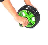 מרזים ומעצבים את הבטן ב-7 דקות ביום! מכשיר AB WHEEL בעל 2 גלגלי סיליקון לחיזוק פלג הגוף העליון