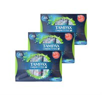 3 חבילות טמפונים Tampax Compak Pearl Super