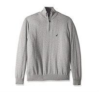 סוודר לגבר עם צווארון גבוה ולוגו קטן NAUTICA דגם S831040GH בצבע אפור