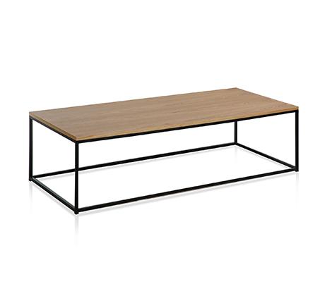 שולחן סלוני בשילוב עץ ומתכת ביתילי דגם מטאל
