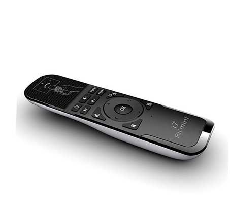 שלט רחוק Air Mouse של חברת Rii בעל פונקציית שליטה בעכבר לסטרימרים מחשבים וטלויזיות חכמות דגם MATI7