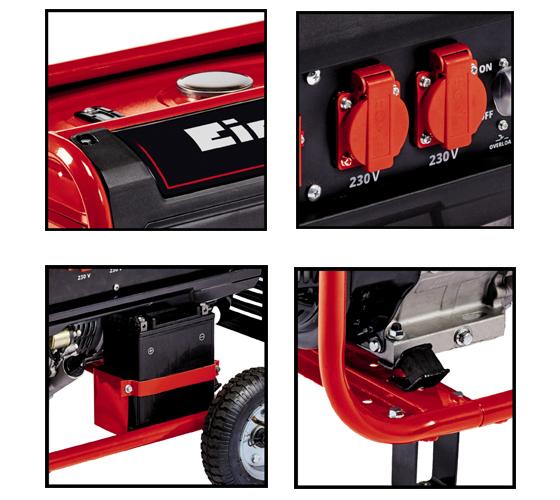 גנרטור חד/ תלת פאזי 2 ב-1 מקצועי דגם TC-PG 5500 WD בעל מנוע בנזין 4 פעימות - משלוח חינם - תמונה 4