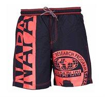 בגד ים NAPAPIJRI לגבר עם תחתון פנימי בצבע שחור ואדום
