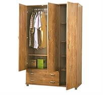 ארון 3 דלתות 2 מגירות על רגליות מבית רהיטי יראון ב-2 גוונים לבחריה