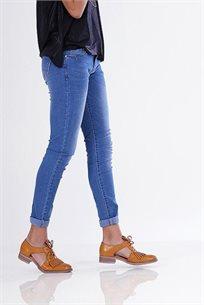 ג'ינס כפתור בהיר -