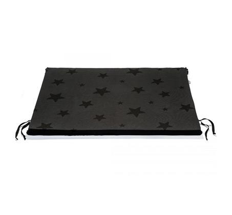 משטח החתלה BABY ROCK עם הדפס כוכבים - צבע אפור פחם