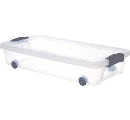 למעלה מסדרים את הבלאגן מתחת למיטה! קופסאות אחסון עשויות פלסטיק קשיח עם FX-61