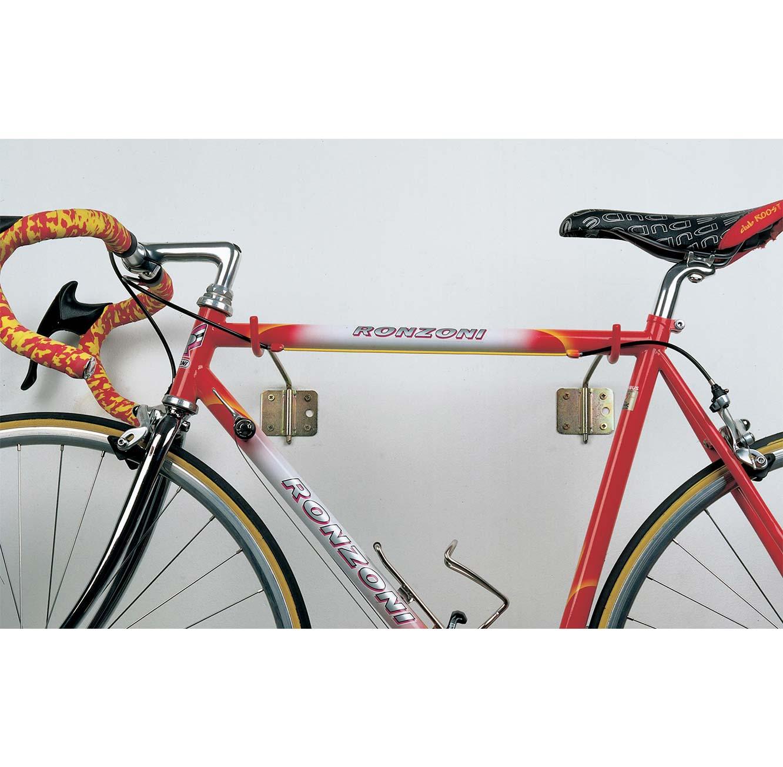 זוג מתלים אופקיים לאופניים צמודי קיר Bolis Italia מתאימים לכל סוגי האופניים עד 30 ק