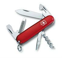 אולר כיס שוויצרי VICTORINOX דגם SPORTSMAN בעל 13 פונקציות עם אחריות לכל חיי המוצר ידית דקה במיוחד - משלוח חינם