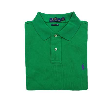 חולצת פולו שרוול קצר Polo Ralph Lauren Custom Slim Fit - ירוק