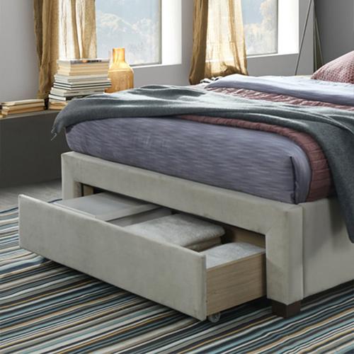 מיטה זוגית מרופדת 160x200 עם שלוש מגירות אחסון דגם טופז HOME DECOR  - תמונה 2