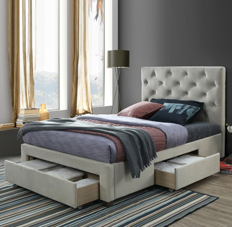 מיטה זוגית 160x200 עם 3 מגירות אחסון דגם טופז