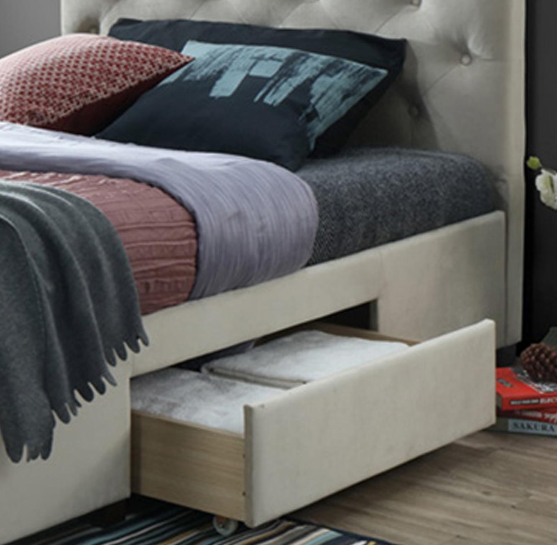 מיטה זוגית מרופדת 160x200 עם שלוש מגירות אחסון דגם טופז HOME DECOR  - תמונה 3