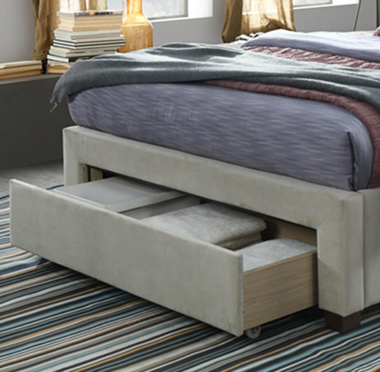מיטה זוגית מרופדת 160x200 עם שלוש מגירות אחסון דגם טופז HOME DECOR  - תמונה 4