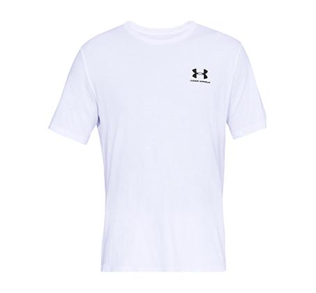 חולצת אימון Under Armour Sportstyle Left Chest SS לגברים - לבן