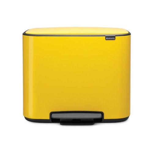 Bo פח פדל 36 ליטר צהוב דייזי Brabantia 121425