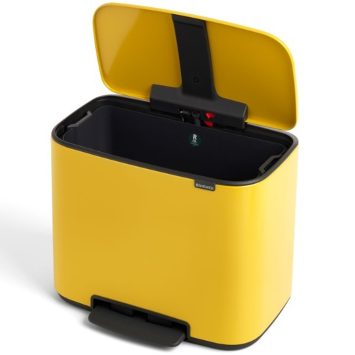 BO פח פדל 36 ליטר צהוב דייזי Brabantia 121425 - תמונה 4