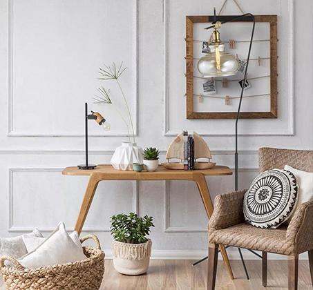מנורת עמידה פעמון שון-ביתילי העשוי זכוכית בגוון קוניאק בשילוב גוף ובית מנורה מתכתי בגימור נחושת - משלוח חינם - תמונה 3