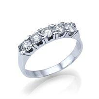 טבעת יהלום  1 קראט עשוייה זהב לבן