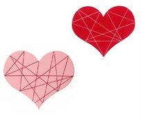 המתנה למי שאוהבים! לוח צבעוני בצורת לב בשילוב גומיות לתליית תמונות ,תכשיטים, פתקים, הודעות ועוד
