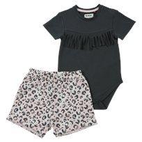 Minene חליפת בגד גוף (3-24 חודשים) - אפור פרנזים